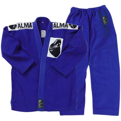 【受注生産品】アルマ ALMA 国産柔術着 A5 青 上下セット JU1-A5-BU