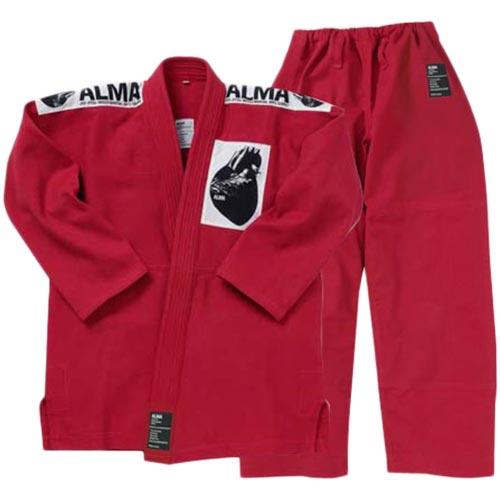 【受注生産品】アルマ ALMA 国産柔術着 A5 赤 上下セット JU1-A5-RD