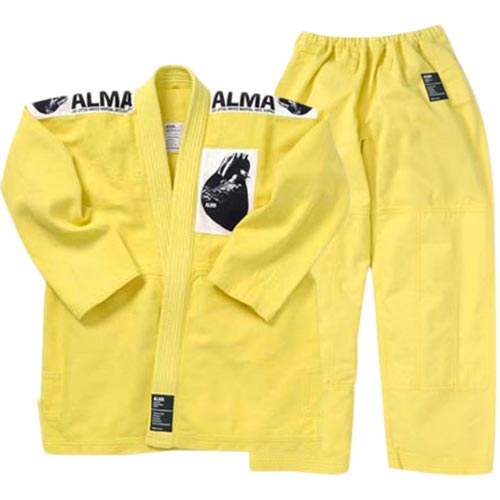 【受注生産品】アルマ ALMA 国産柔術着 M0 黄 上下セット JU1-M0-YL