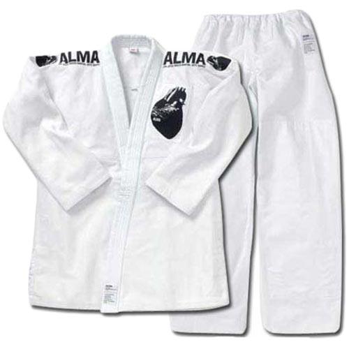 アルマ ALMA 海外製柔術着 A0 白 上下セット 白帯付 JU2-A0-WH