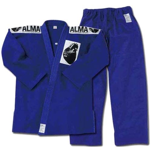 アルマ ALMA 海外製柔術着 A2 青 上下セット 白帯付 JU2-A2-BU