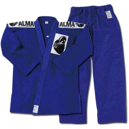 アルマ ALMA 海外製柔術着 A4 青 上下セット 白帯付 JU2-A4-BU