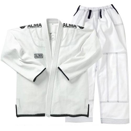 【受注生産品】アルマ ALMA コンペディションキモノ A5 白 上下セット JU3-A5-WH