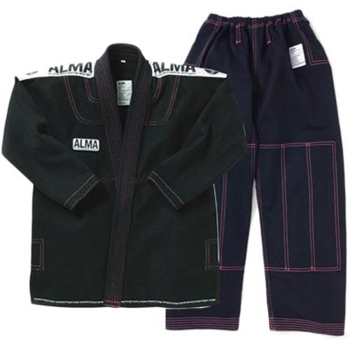 【受注生産品】アルマ ALMA コンペディションキモノ A1 黒 上下セット JU3-A1-BK