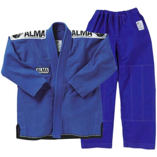【受注生産品】アルマ ALMA コンペディションキモノ A0 青 上下セット JU3-A0-BU