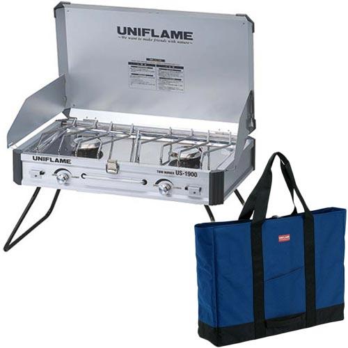 ユニフレーム UNIFLAME バーベキュー コンロ バーナー ツインバーナーUS-1900 610305 & LTトート L 683545