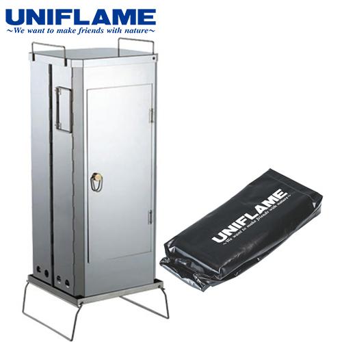 ユニフレーム UNIFLAME キャンプ用品 燻製器 フォールディングスモーカー FS-600 665916 &スモーカー収納ケース 600 計2点セット