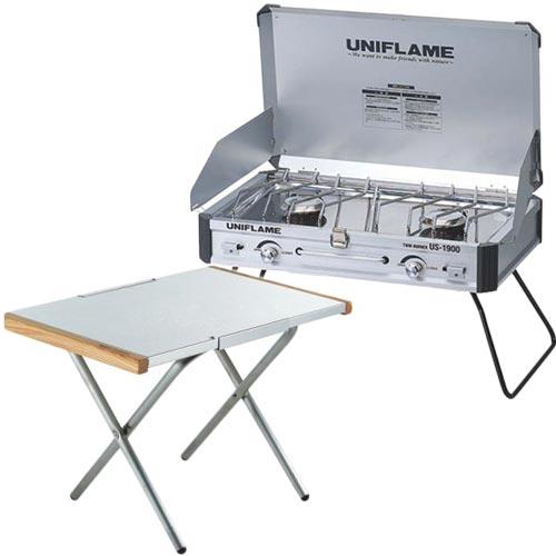ユニフレーム UNIFLAME ツインバーナーUS-1900 & 焚き火テーブル ステンレス