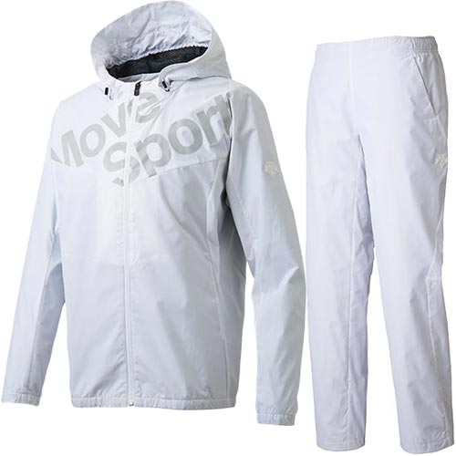 デサント DESCENTE メンズ コスミックサーモ フーデッドジャケット & ロングパンツ 上下セット ホワイト DMMMJF33 WH/DMMMJG33 WH