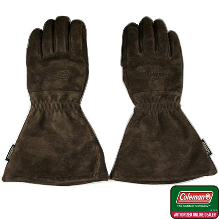 年中無休 商い バーベキュー小物 コールマン Coleman バーベキュー 手袋 ソリッドレザーグリルグローブII 170-9506