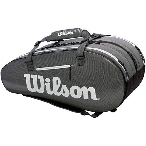 ウイルソン Wilson テニスバッグ SUPER TOUR 3 COMP BKGY ブラック・グレー WRZ843915