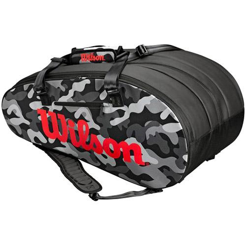ウイルソン Wilson ラケットバッグ スーパーツアー カモ 15本用 グレー WRZ831814
