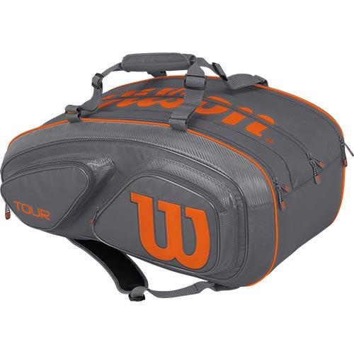 ウイルソン Wilson テニスバッグ ツアーV TOUR V 15 PACK GYOR グレー/オレンジ WRZ841715