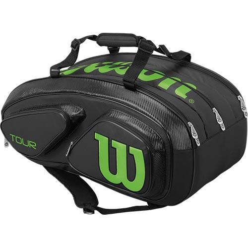 ウイルソン Wilson テニスバッグ ツアーV TOUR V 15 PACK BKLI ブラック/ライム WRZ845615