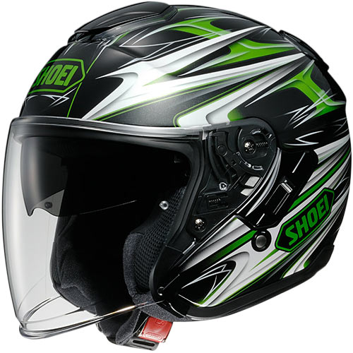 ショウエイ SHOEI J-CRUISE CLEAVE TC-4 GREEN/BLACK L 40381