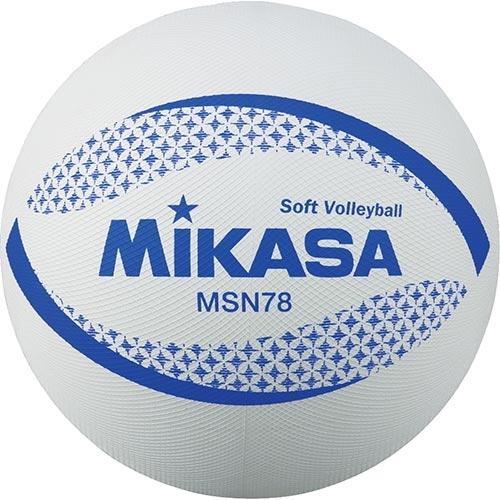 検定球 JSA公認球 ソフトバレーボール ミカサ 最新 MIKASA 約210g MSN78-W 正規品送料無料 円周78cm ソフトバレー 白