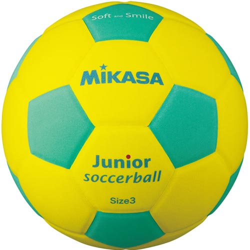 お値打ち価格で サッカー お買得 3号球 小学校用 セール 23%OFF ミカサ MIKASA 黄 約150g SF3J-YLG スマイルサッカーボール 軽量球 緑