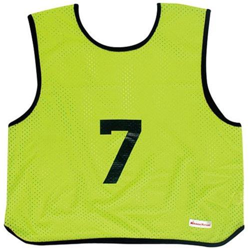 ミカサ MIKASA ゲームジャケット ソフトバレー 10枚組 蛍光グリーン GJSV10-KG