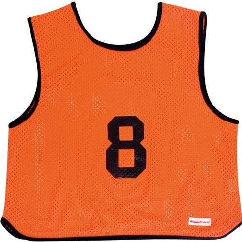 ミカサ MIKASA ゲームジャケット ソフトバレー 10枚組 蛍光オレンジ GJSV10-O
