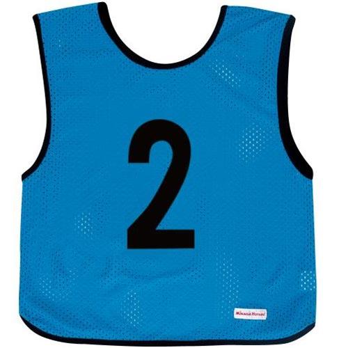 ミカサ MIKASA ジュニアサイズ ゲームジャケット 10枚組 ブルー GJJ210-B
