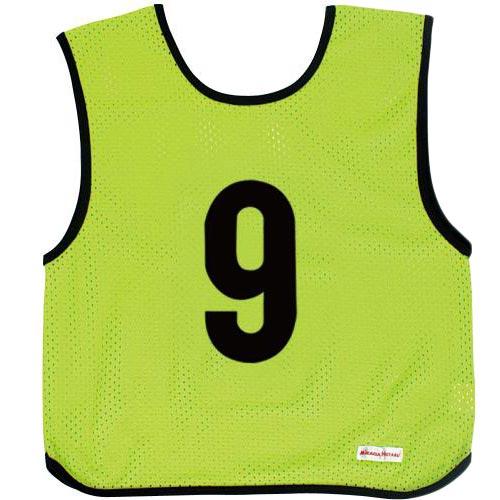 ミカサ MIKASA ジュニアサイズ ゲームジャケット 10枚組 蛍光グリーン GJJ210-KG