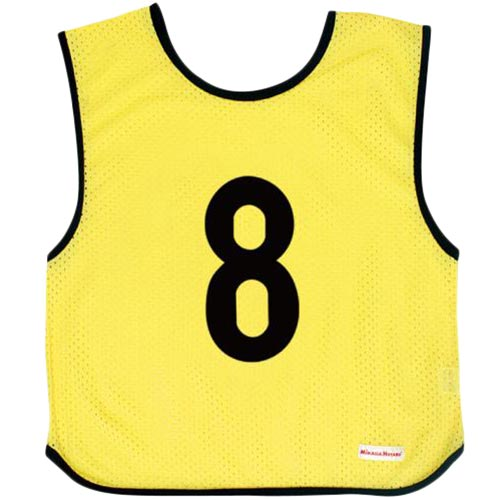 ミカサ MIKASA ジュニアサイズ ゲームジャケット 10枚組 蛍光イエロー GJJ210-KY