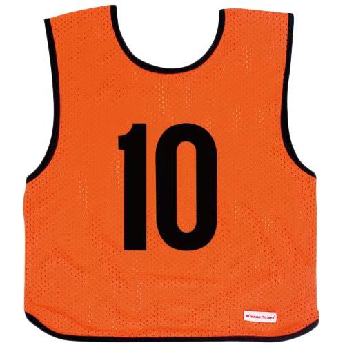 ミカサ MIKASA ジュニアサイズ ゲームジャケット 10枚組 蛍光オレンジ GJJ210-O