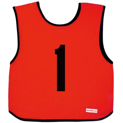 ミカサ MIKASA ジュニアサイズ ゲームジャケット 10枚組 レッド GJJ210-R