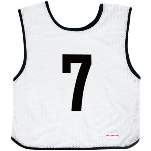 ミカサ MIKASA ジュニアサイズ ゲームジャケット 10枚組 ホワイト GJJ210-W