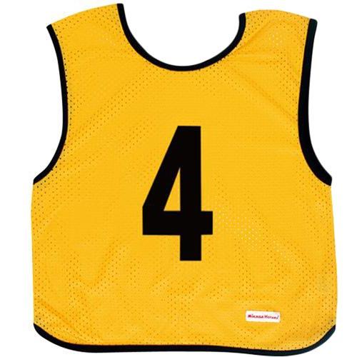 ミカサ MIKASA ジュニアサイズ ゲームジャケット 10枚組 イエロー GJJ210-Y