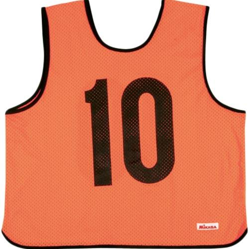ミカサ MIKASA ゲームジャケット 10枚組 蛍光オレンジ GJR210-O