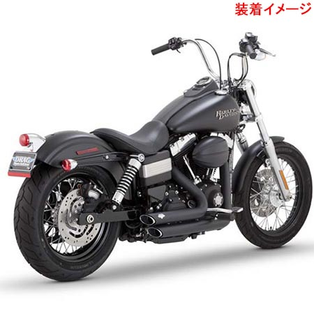 バンスアンドハインズ Vance&Hines SHORT SHOTS STAGGERED BLK 1800-1417