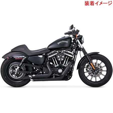 バンスアンドハインズ Vance&Hines SHORT SHOTS STAGGERED BLK 47229