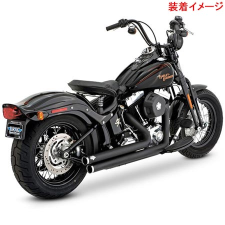 バンスアンドハインズ Vance&Hines BIG SHOTS STAGGERED BLK 1800-1070