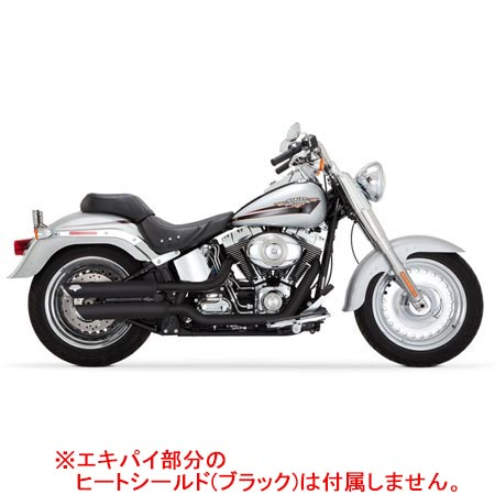 バンスアンドハインズ Vance&Hines TWIN SLASH 3inch S/O BLK 1801-0387