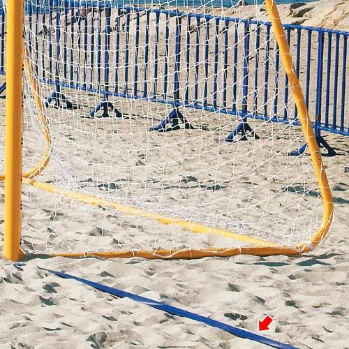 【受注生産品】三和体育 SANWATAIKU ビーチサッカーラインテープ 青 S-0126
