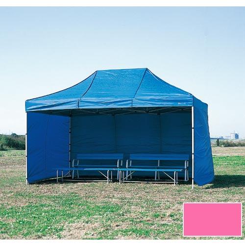 【受注生産品】【特殊送料】三和体育 SANWATAIKU 横幕 1枚 かんたんてんと3 切妻型用 ピンク 600cm S-7715