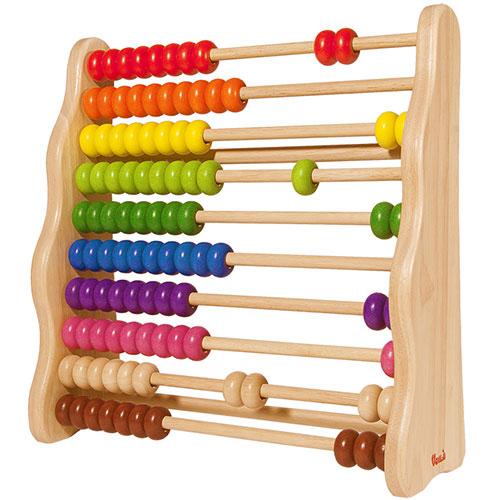 プレゼント ベビー 木のおもちゃ そろばん NEW ARRIVAL 木製 玩具 学習勉強 驚きの値段で S621C Voila エデュテ キッズ レインボーアバカス ボイラ