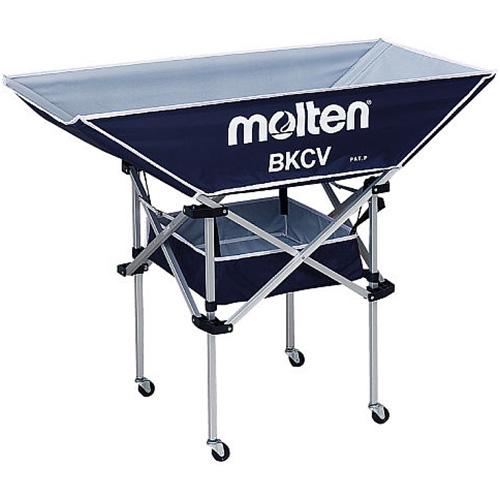 モルテン molten 折りたたみ式平型軽量ボールカゴ 背高 ネイビー BKCVHNV