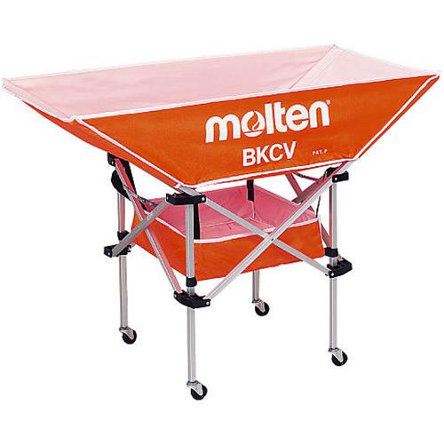モルテン molten 折りたたみ式平型軽量ボールカゴ 背低 オレンジ BKCVLO