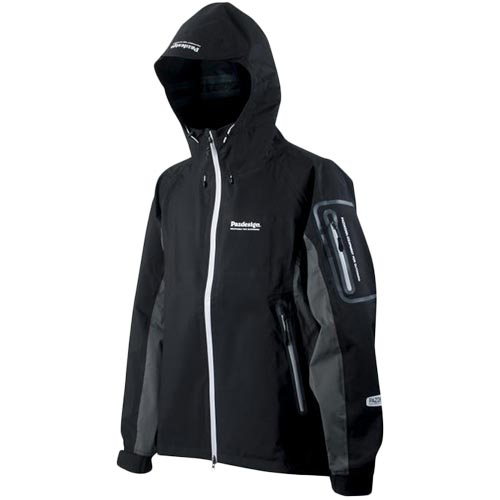 パズデザイン Pazdesign フィッシング BS ストレッチレイン ジャケット ブラック SBR-036