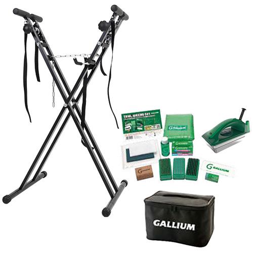 ガリウム GALLIUM トライアルワクシングセット & ワックススタンド スノーボード スキー 兼用作業台 ブラック JB0009/ESWT-002BK