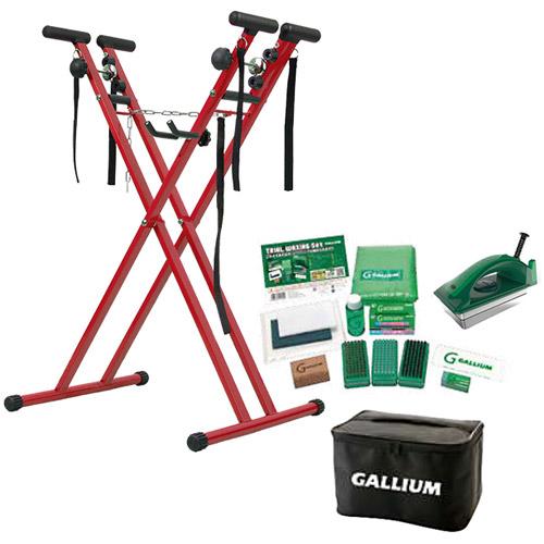 ガリウム GALLIUM トライアルワクシングセット & ワックススタンド スノーボード スキー 兼用作業台 レッド JB0009/ESWT-002RD