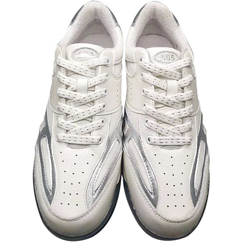 ボウリングシューズ ボーリング 靴 アメリカンボウリングサービス ABS メンズ ☆最安値に挑戦 レディース 5%OFF エービーエス シルバー 左右兼用 CLASSIC シューズ ホワイト クラシック 329290