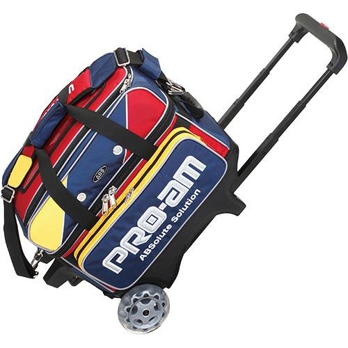 アメリカンボウリングサービス ABS ボウリング 2個入れ ショートカートWバッグ レッド/イエロー/ブルー B17-1400