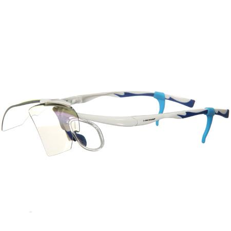 ダンロップ DUNLOP 無料度付きサングラス はね上げタイプ 交換レンズ 計3枚付き 蛍光ホワイト DU-019