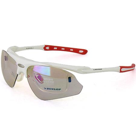 ダンロップ DUNLOP 無料 度付きレンズ付き インナーフレーム サングラス 交換 レンズ 計3枚付 DU-002 フレームカラー:S.WH/Col.3