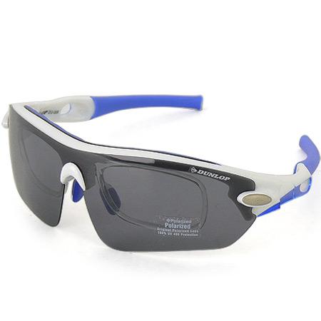 ダンロップ DUNLOP 無料 度付きレンズ付き インナーフレーム サングラス 交換 レンズ 計5枚付 DU-006 フレームカラー:WH.BL/Col.3