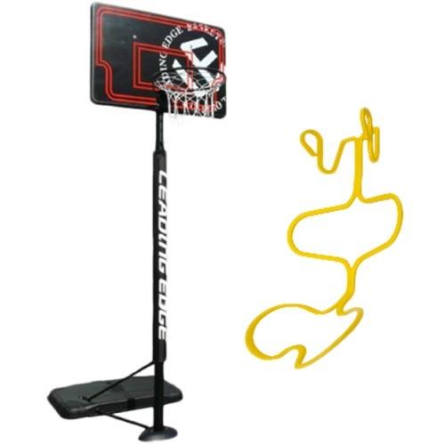 リーディングエッジ バスケットボール ゴール ブラック ボール ゴール リターン セット セット ボール LE-BS305B, ニコアンティーク:e37f2807 --- rakuten-apps.jp