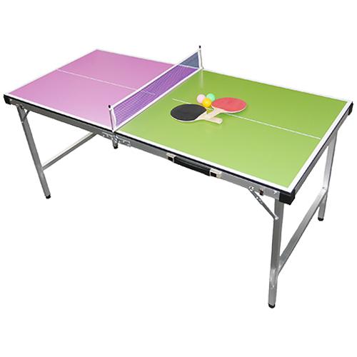 ビーアクティブ Be Active コンパクト卓球台 ピンク&グリーン BA-6356